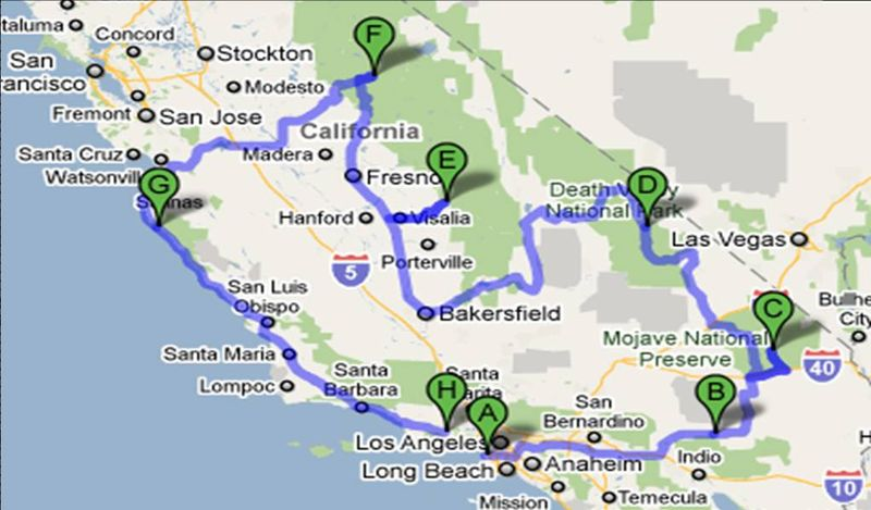 Off He Goes Around The Bend: * Southern California National Parks California Parks Map on